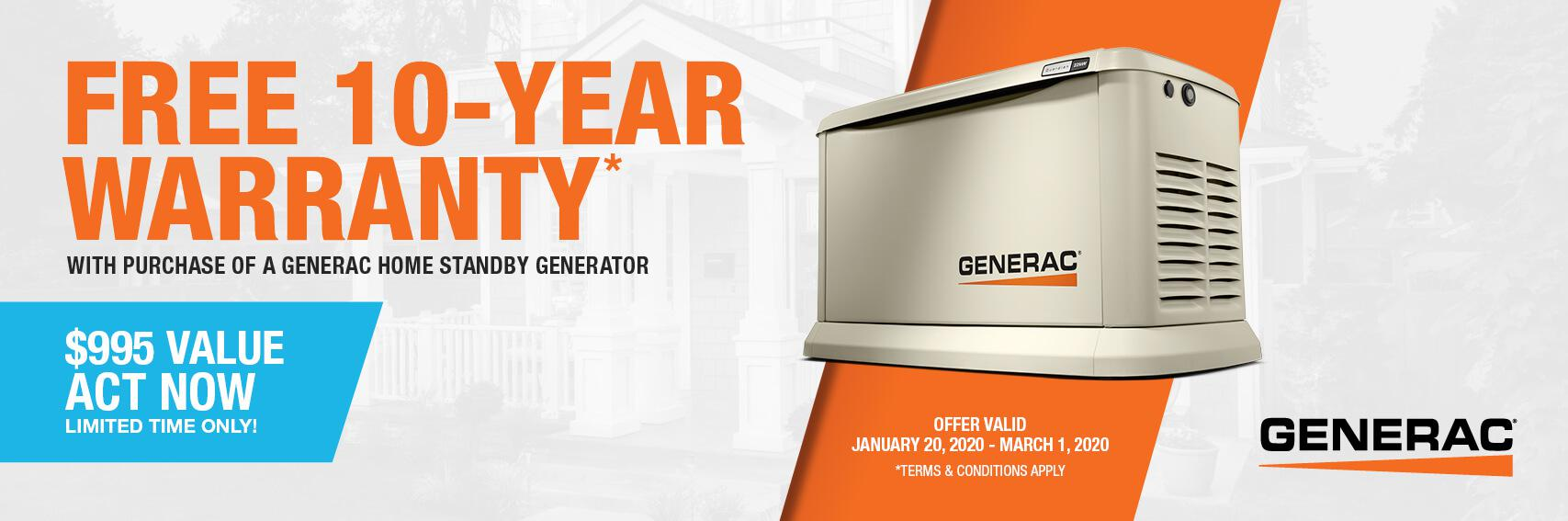 Homestandby Generator Deal | Warranty Offer | Generac Dealer | Rockaway, NJ